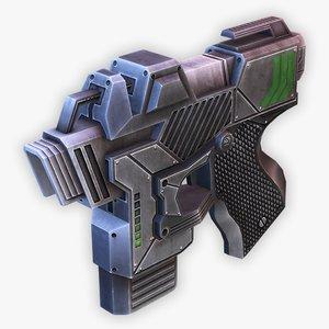 sci-fi pistol 3D model