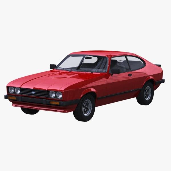 3D 1983 capri mk iii model