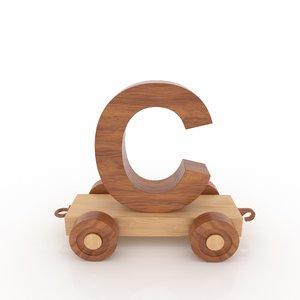3D model letter c car