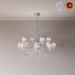 lamp shedar 741-8-4 itallamp 3ds