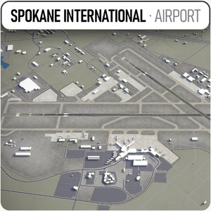3D spokane international airport -