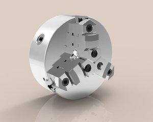 lathe chuck 3D model