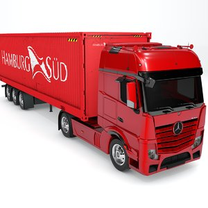 3D mercedes benz actros red