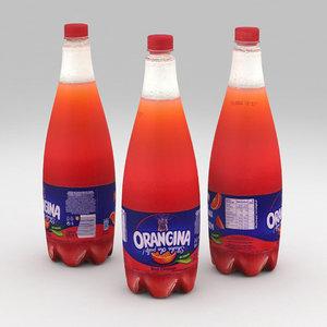 beverage bottle 3D