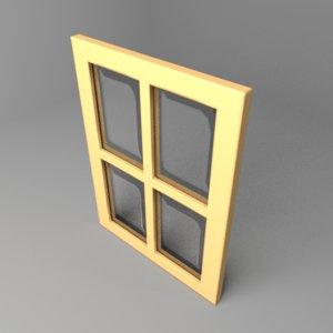window 1 3D model