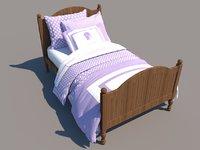 Revit single bed 3
