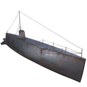 old submarine 3D