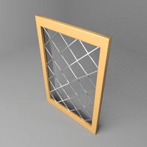 3D window 12 model