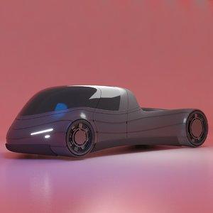 3D futuristic vehicle model