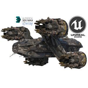 3D prometheus spaceship pro 2020 model