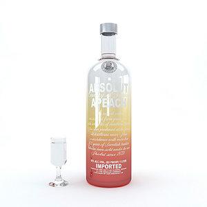 vodka alcohol drink 3D model