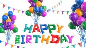 balloon birthday birth 3D