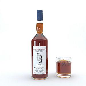 bourbon alcohol drink model