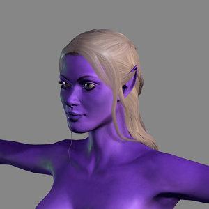 3D model woman elf character