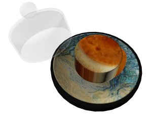 3D caramel pudding model