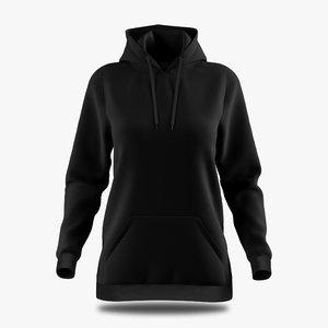 hoodie female 3D model