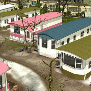 scene camping site 3D model