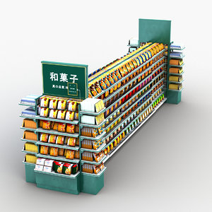 3D japanese biscuit display stand
