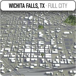 wichita falls surrounding - 3D