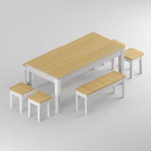 3D table loft alvina stool