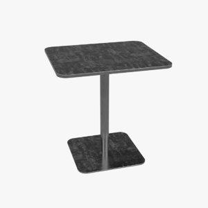 3D model table steel cafe