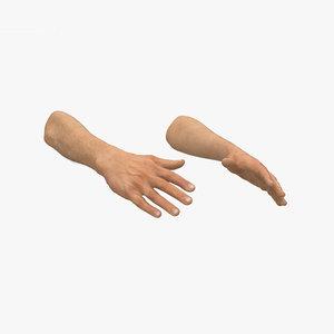 male hands 3D model