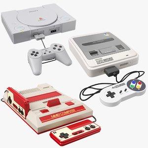 classic consoles 3D model