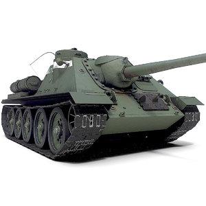 3D su-85 war tank