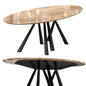 3D forest oval table