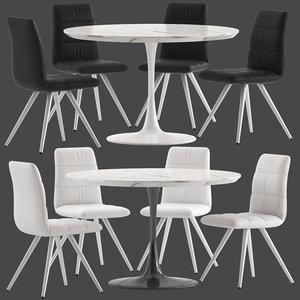 linea furniture donny dinning 3D model