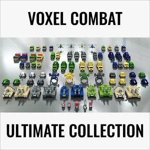 3D voxel combat vehicles