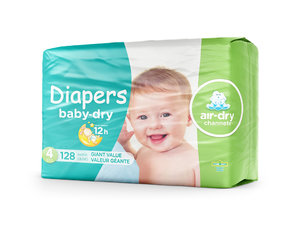 3D diaper package