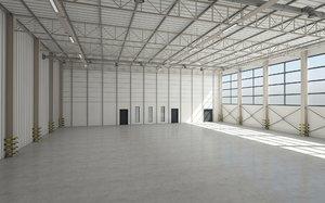warehouse logistics building 3D model
