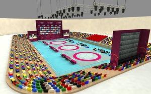 3D model wrestle sports arena 04