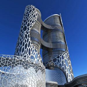 modern design organic 3D model