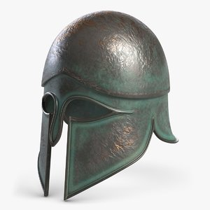 3d antique helmet