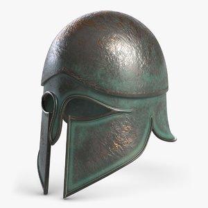 3d antique helmet