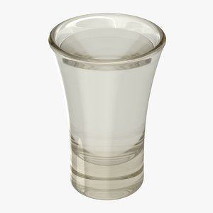 realistic vodka shot model
