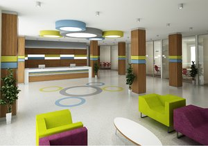 modern lobby meeting room 3D model