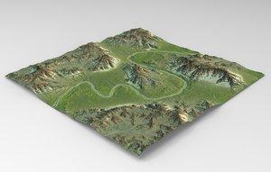 games maps terrain model
