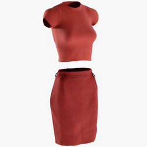 3D model realistic women s skirt