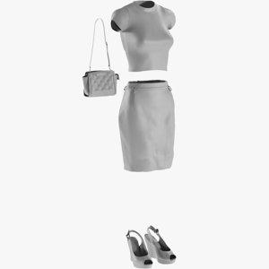 base mesh women s 3D model