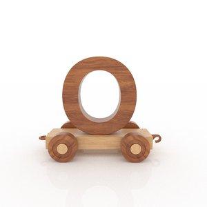 letter car 3D
