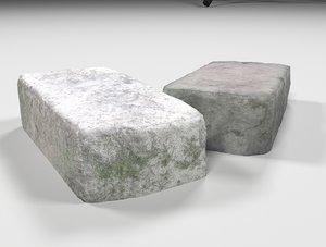 old brick 3D model