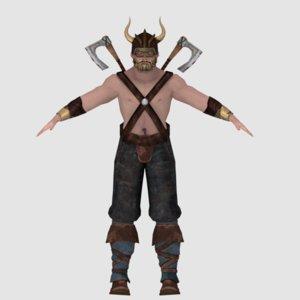 3D model viking rigged