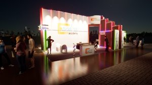 exhibition booth 10x20 3D model