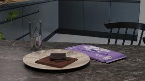 3D chocolate table