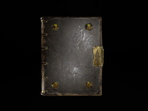 3D book artefact model