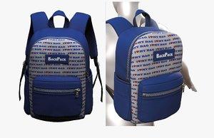 3D model bag backpack