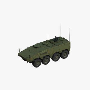 boxer infantry british 3D model